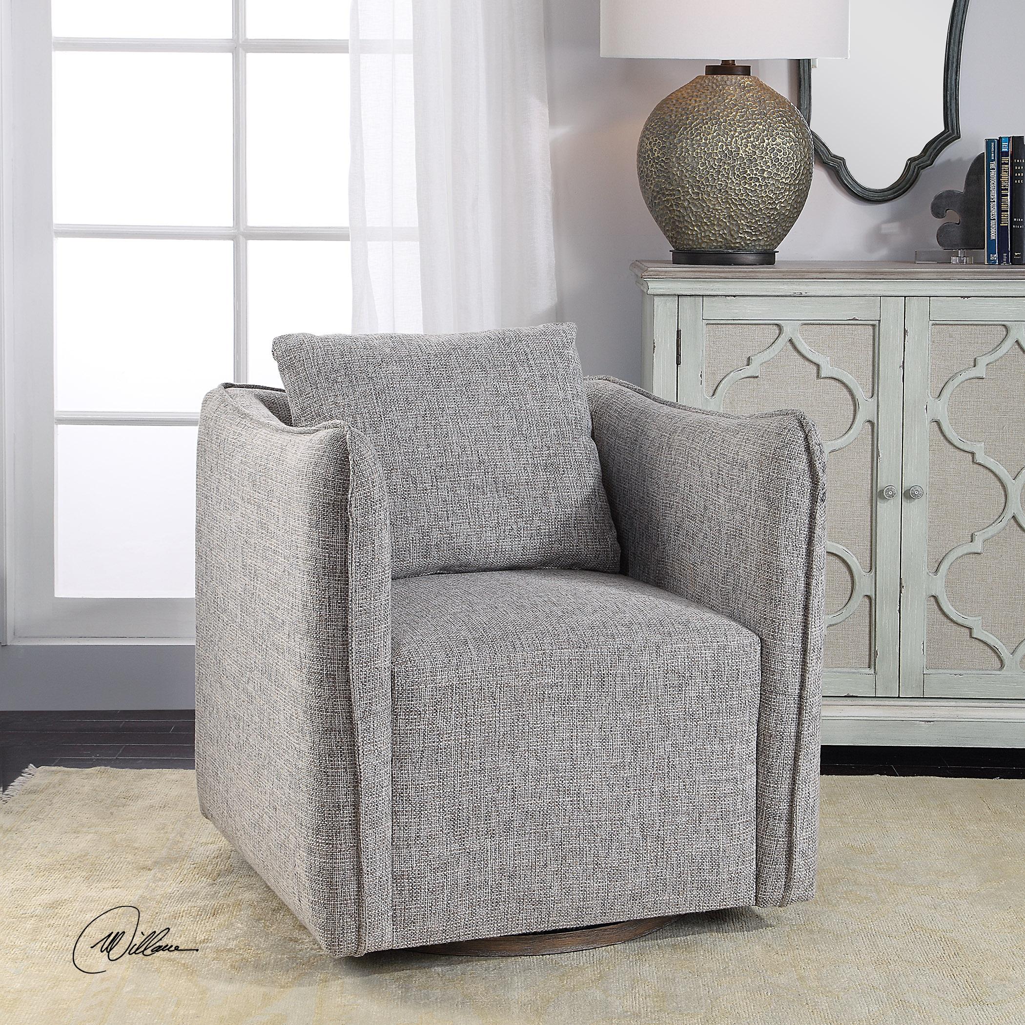 Corben Gray Swivel Chair