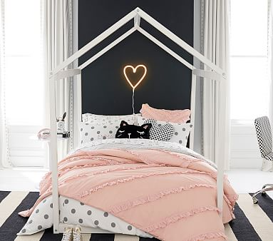 Camden House Bed, Full, Black, Unlimited Flat Rate Delivery
