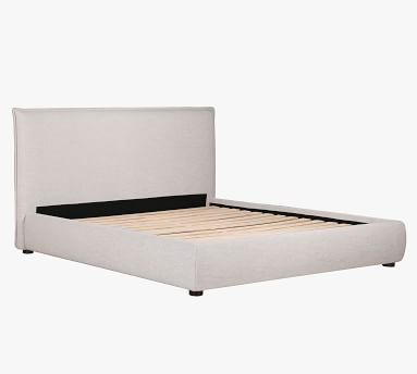 Bakersfield Upholstered Platform Bed, Light Gray, King