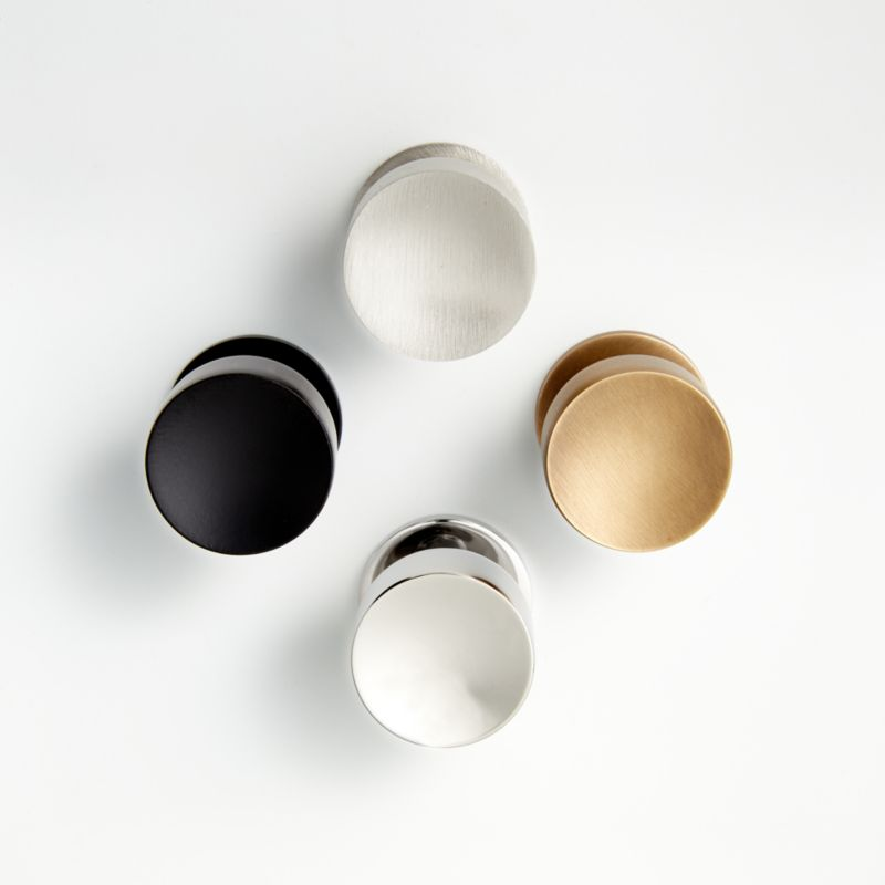 Oval Antique Brass Knob