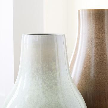 Reactive Floor Vases, Tall, White