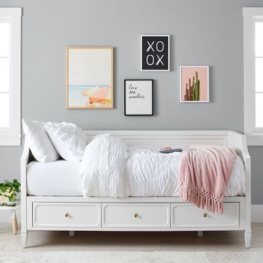 Auburn Storage Daybed, Full, Simply White