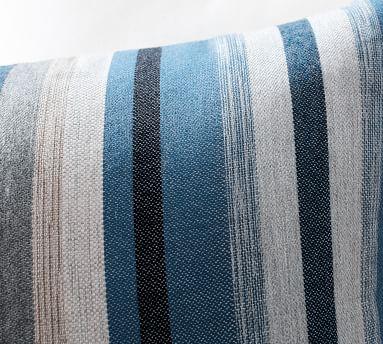 """Joel Striped Indoor/Outdoor Pillow, 22"""" x 22"""", Blue Multi"""