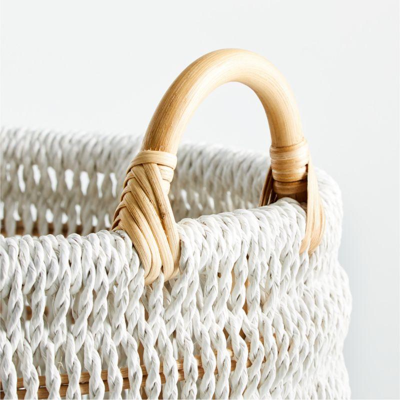 Blanca Natural/White Rope Basket