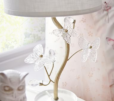 Monique Lhuillier Crystal Butterfly Table Lamp, Champagne