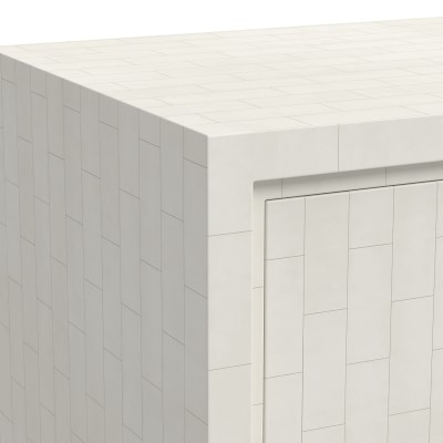 Faux Bone Bar Cabinet, Bone Inlay, Ivory