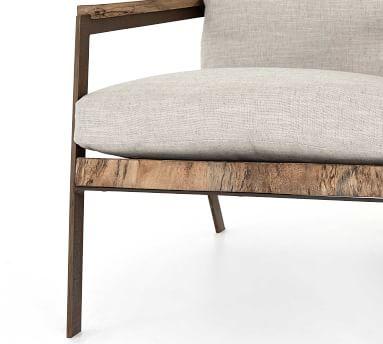 Terri Armchair, Primavera Wood/Oxidized Iron