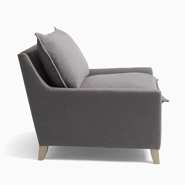 Bliss Chair and a Half, Down Blend, Twill, Dove, Ash