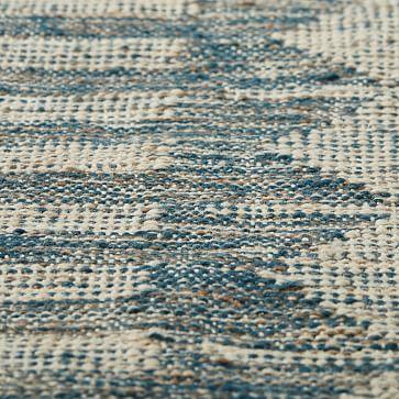 Diamond Brim Indoor/Outdoor Rug, 10'x14', Iron