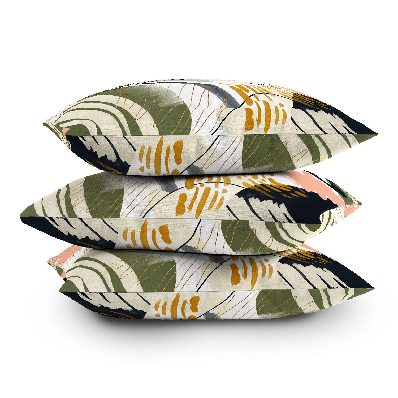 """Abstract Autumn Season by Marta Barragan Camarasa - Outdoor Throw Pillow 18"""" x 18"""""""