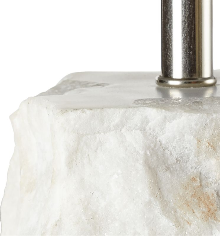 Raw Marble Table Lamp