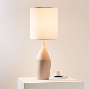 Asymmetric Table Lamp, Large, Black