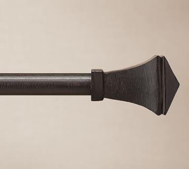 "75"" diam. Room Darkening Curtain Rod & Wall Bracket, Small, Cast Iron Black"