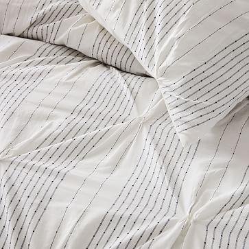 Pintuck Stripe Euro Sham, Stone White