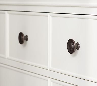 Larkin Extra Wide Nursery Dresser & Topper Set, Heritage Fog