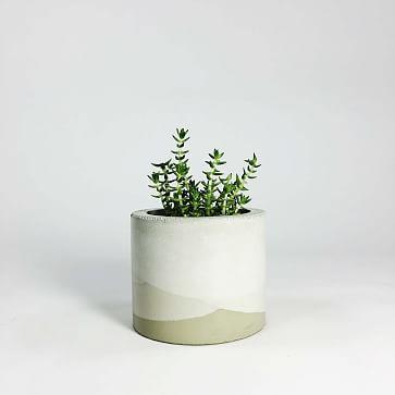 SETTLEWELL Concrete Vase, Dark Gray