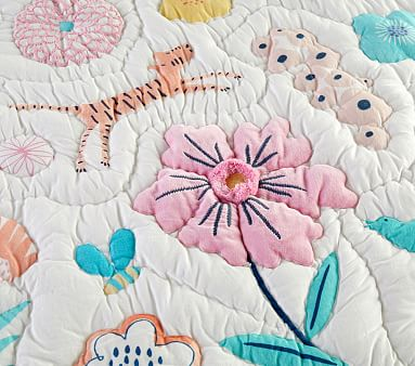 Sasha's Garden Quilt, Euro Sham, Multi
