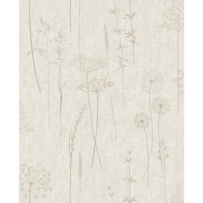 Superfresco Easy Meadow Beige Removable Wallpaper Sample, Silver