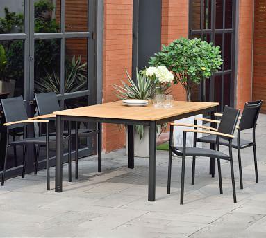 Santa Ana Extending Teak Dining Table, Natural