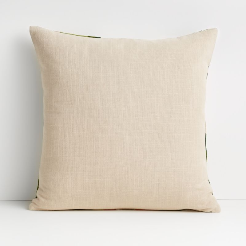 """20"""" Palma Leaf Pillow with Feather-Down Insert"""