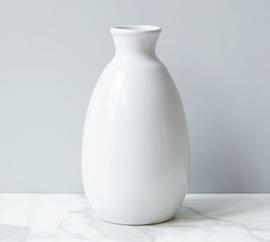 Artisanal Ceramic Vase, Large - Light Gray