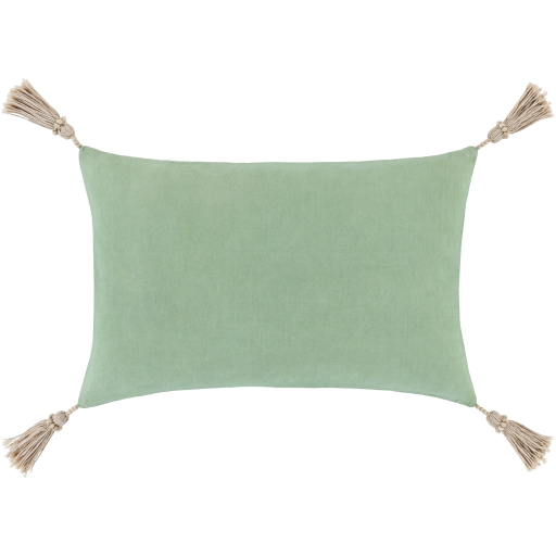 """Etta Lumbar Pillow, 20"""" x 13"""", Mint"""