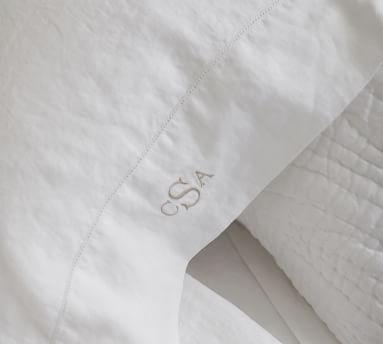 Belgian Flax Linen Pillowcases, King, Set of 2, Chambray