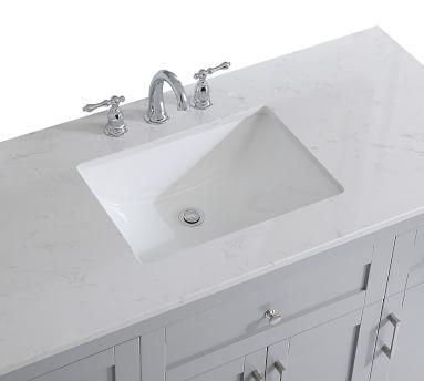 "White Cedra Single Sink Vanity, 48"""