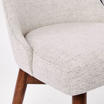 Mid-Century Office Chair, Twill, Stone, Pecan
