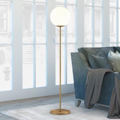 Hudson&Canal Theia 62.63 in Brass Globe & Stem Floor Lamp