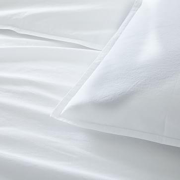 Organic Washed Cotton Duvet, King Duvet & King Shams, Asphalt