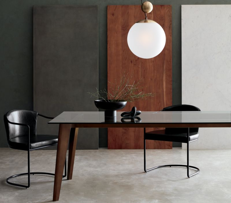 Harper Brass Dining Table with Glass Top