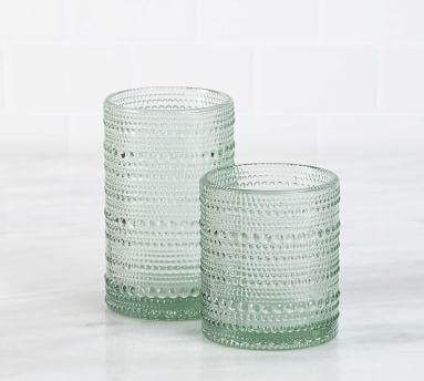 Jupiter Hobnail Highball Glasses, Set of 6 - Aqua