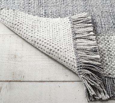 Kian Recycled Material Indoor/Outdoor Rug, 8' x 10', Khaki