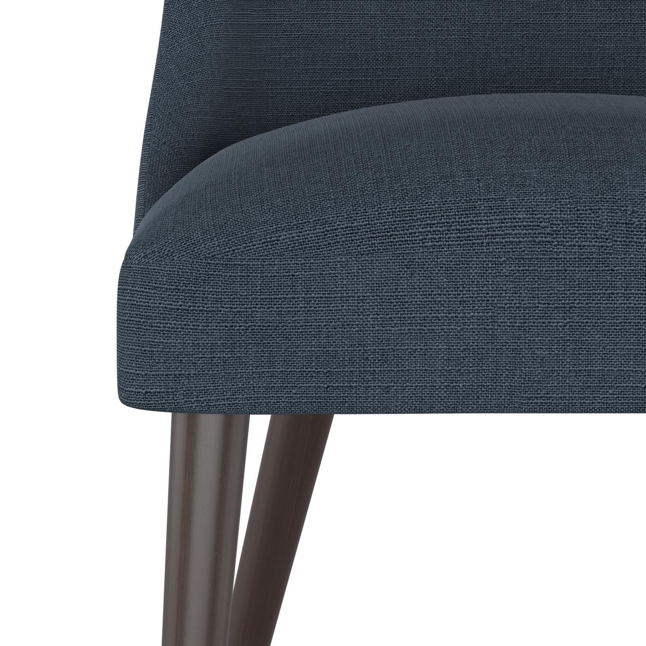 Tara Dining Chair in Linen Navy