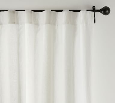 "Custom Classic Belgian Flax Linen Rod Pocket Blackout Curtain, 54 x 90"", Classic Ivory"