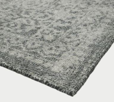Prehn Printed Handwoven Rug, 9' x 12', Indigo