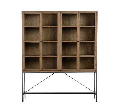 Inglewood Large Display Cabinet, Warm Taupe