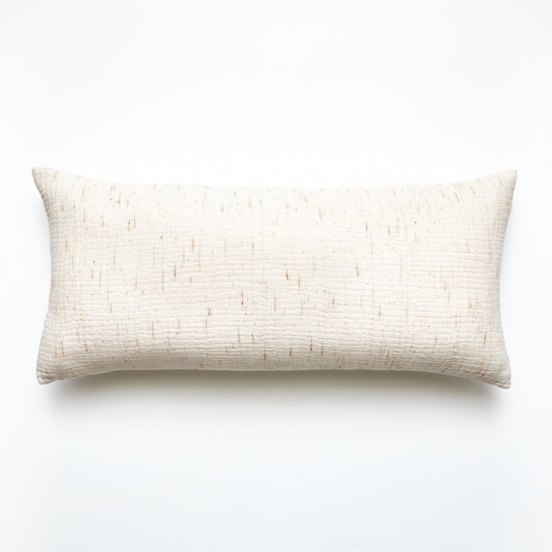 "36x16"" Nett Ivory Pillow with Down-Alternative Insert"