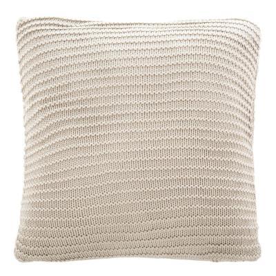 Safavieh Bella Gigi Knit 20 in. x 20 in. Standard Pillow, Palewisper