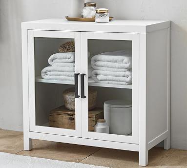 Austen Bath Cabinet Floor Storage White Pottery Barn