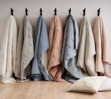 Soft Cotton Duvet Cover, Full/Queen, Gray