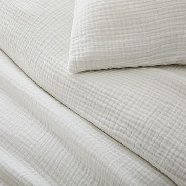 Dreamy Gauze Cotton Duvet, King Set, White (incl 2 shams)