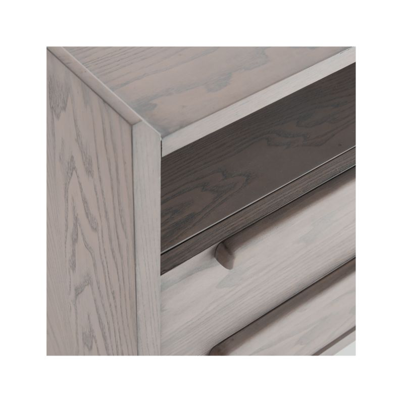 Tate Stone 2-Drawer Mid-Century Nightstand with Power Outlet
