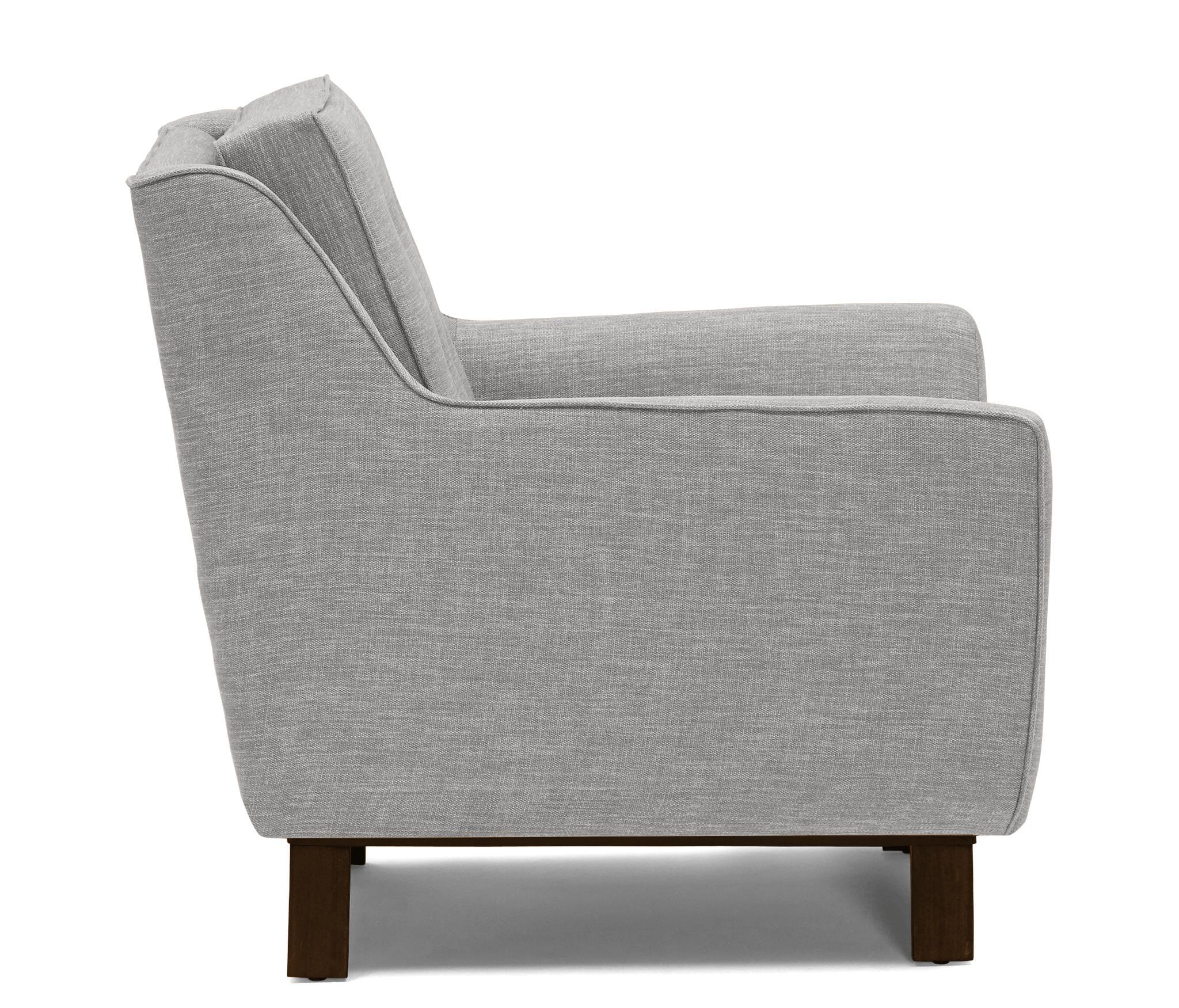 Gray Eastwood Mid Century Modern Chair - Sunbrella Premier Fog - Mocha