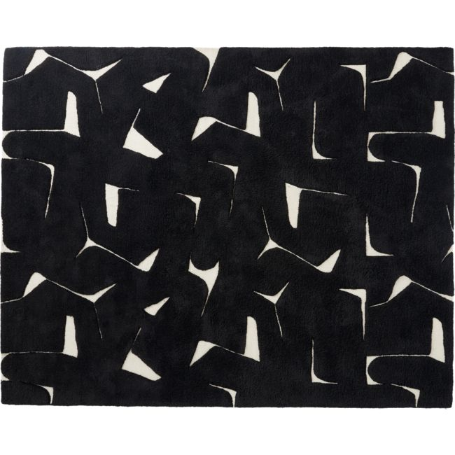 Sway Black Tufted Rug 8'x10'