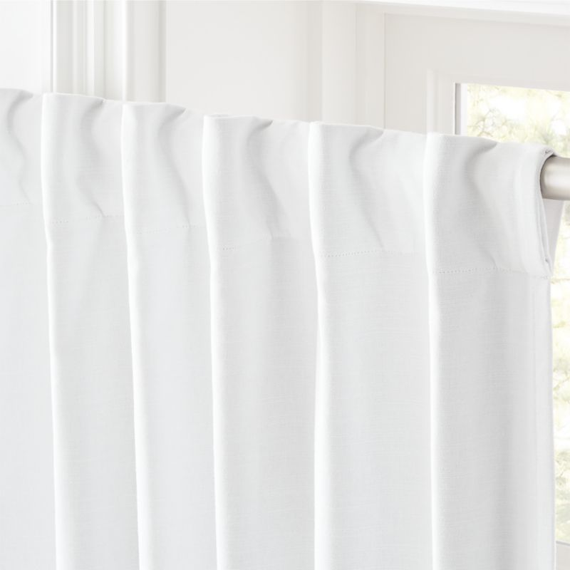 "White Basketweave Blackout Curtain Panel 48""x108"""