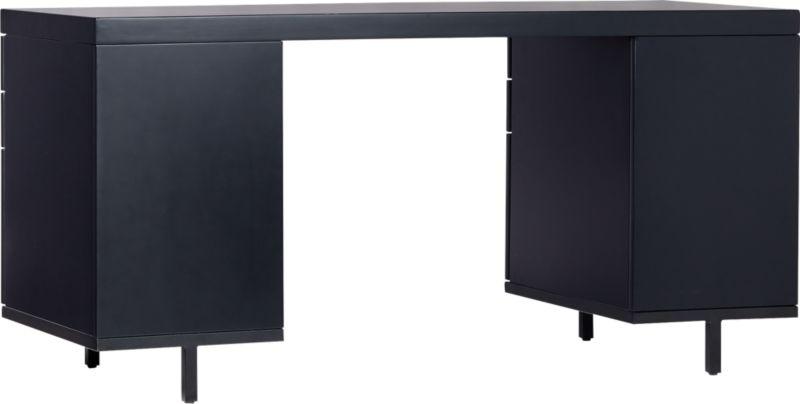 Stairway Modular Desk with Drawers Black