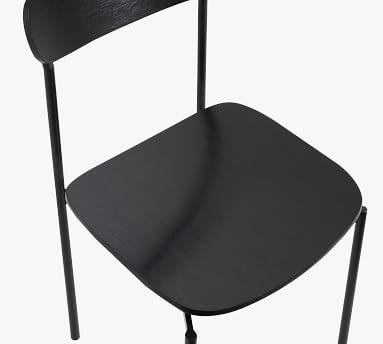 Wyatt Wood Dining Chair, Black
