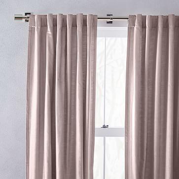 "Luster Velvet Curtain, Dusty Blush, 48""x84"" -Individual"